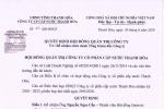 Quyết định HĐQT về việc bổ nhiệm chức danh Tổng Giám Đốc